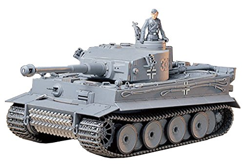 Tamiya TAM35216 35216 German Tiger I Early Production Tank 1:35 Military Model Kit, Individual Packaging