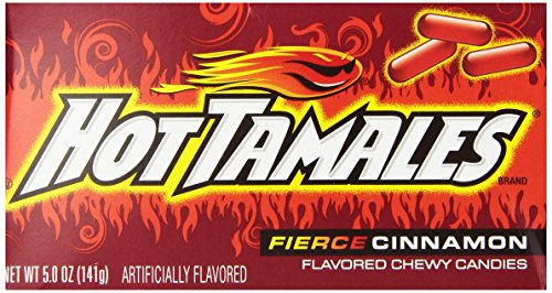 Hot Tamales Candy, Cinnamon, 5 Ounce (Pack of 12)