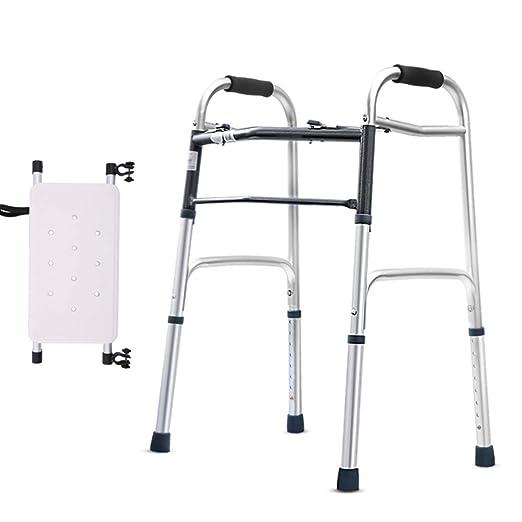 LHY-Andador Caminador Plegable De Movilidad Ajustable con Asiento ...