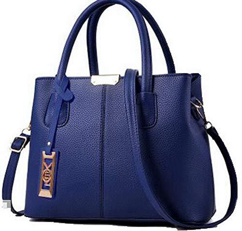 Scuro Blu Shopping Festa Chiaretto Dacron a Style GMMBA181731 Donna Borse Tote AgooLar tracolla AqaTpFn