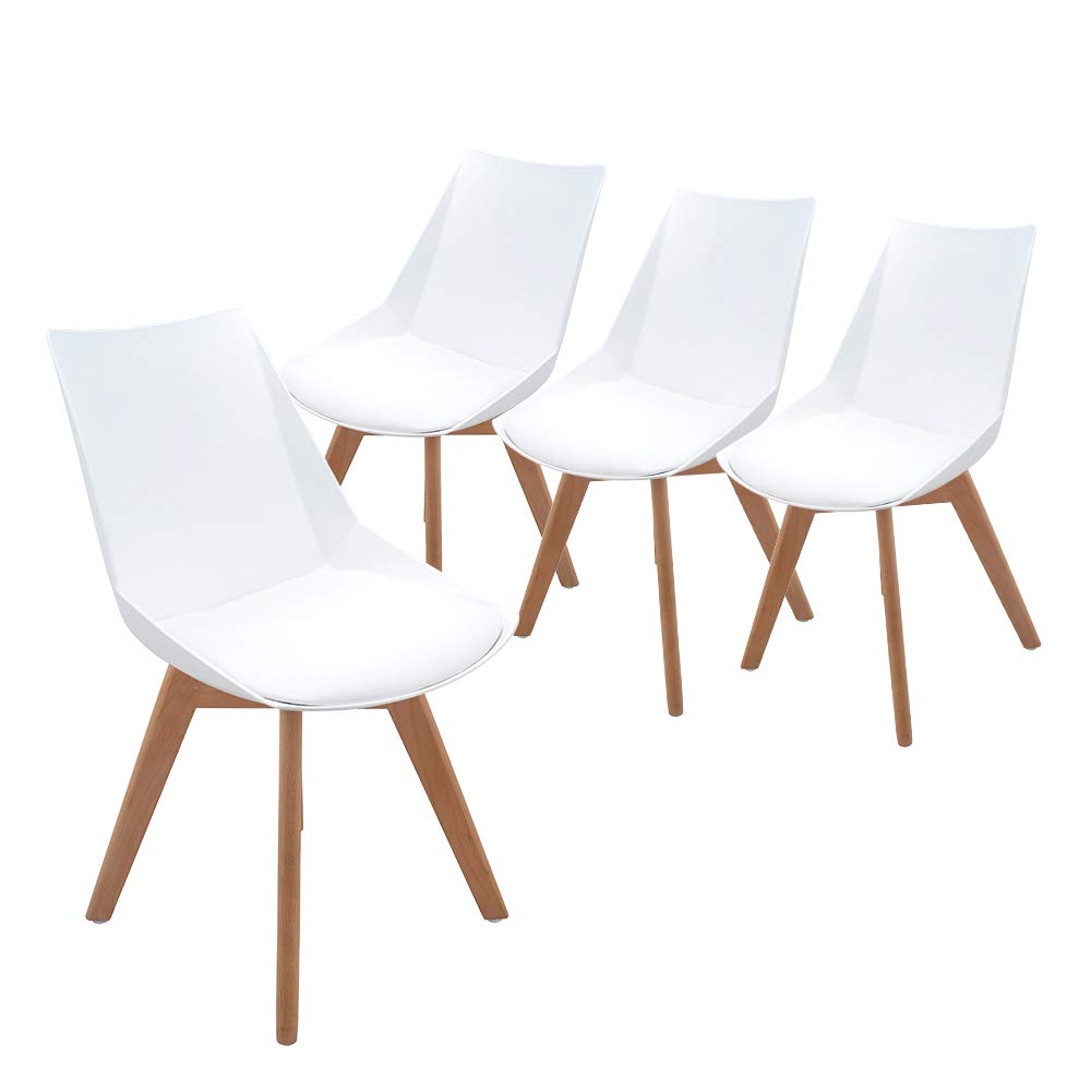 Aosun Upholstered Dining Chairs Set Of 4 Mid Century