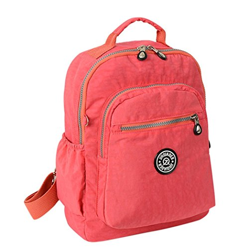 Xin Barley Sports Travel Nylon Backpack Pink Review