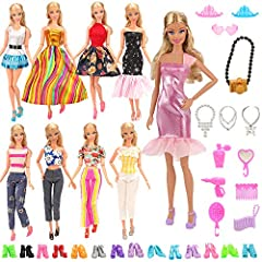 "This outfits fits for 30cm/11.5"" dollsBrand New & Handmade ! It is not include Doll,only clothes Package include:  5 Set Outfits with 10 Pair Shoes for 11.5 inch Doll( Random Style )Note:we will update the styles often.The pictures just a..."