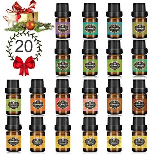 Innoo Tech Huiles Essentielles 20 x 5 ml Aromathérapie 100% Pure et Naturelle, Huile Essentielle pour Diffuseurs Massage…