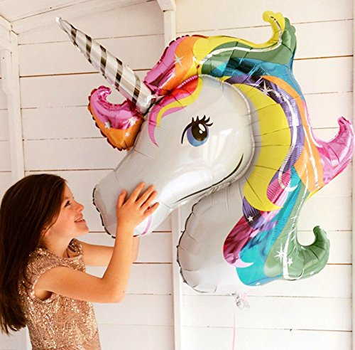 2 Pcs 43 inch and 8 Pcs 16 inch Unicorn Party Supplies for Birthday Party Unicorn Balloons(10pcs ),Unicorn Balloon Birthday Decoration Set Unicorn Party Supplies