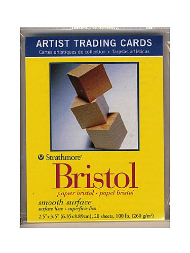 Strathmore Artist Trading Cards 300 Series Bristol Smooth pack of 20 [PACK OF 6 ]