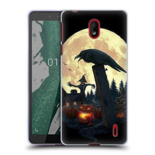 Official Christos Karapanos Halloween Theme Horror 2 Soft Gel Case Compatible for Nokia 1 -