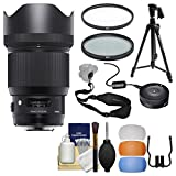 Sigma 85mm f/1.4 ART DG HSM Lens with USB Dock + Tripod + 2 (UV/CPL) Filters + Flash Diffusers + Sling Strap + Kit for Nikon Digital SLR Cameras