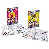 Crayola Color Alive Action Coloring Pages - Combo Set - Barbie and Enchanted Forest