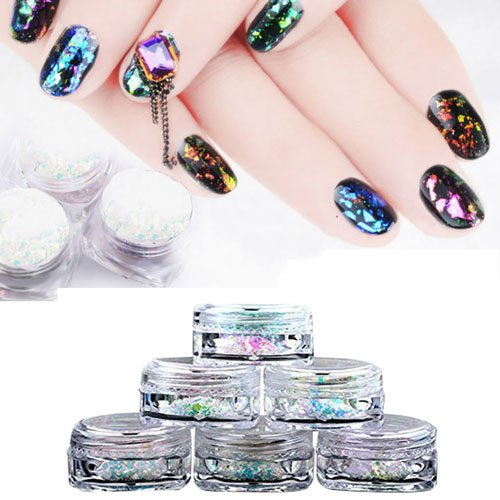 PrettyDiva Chrome Iridescent Glitter Lightweight product image