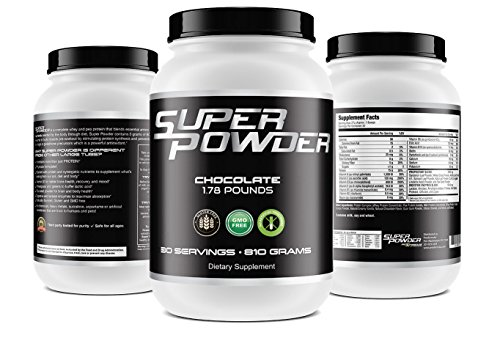 Super Powder *ONLY 90 CALORIES* – Stacked protein chocolate blend for athletes without artificial sweeteners or as a Meal Replacement Young Athletes, weekend warriors, Tennis, Golf, Softball