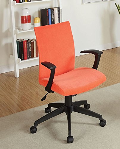 Furniture of America CM-FC635OR Crofter Orange Chairs - Home Office Desks
