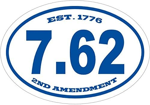Perfect for Windows Cars Tumblers Laptops Lockers 1776 762 Vinyl Decal WickedGoodz Oval Blue Est Ak47 Bumper Sticker