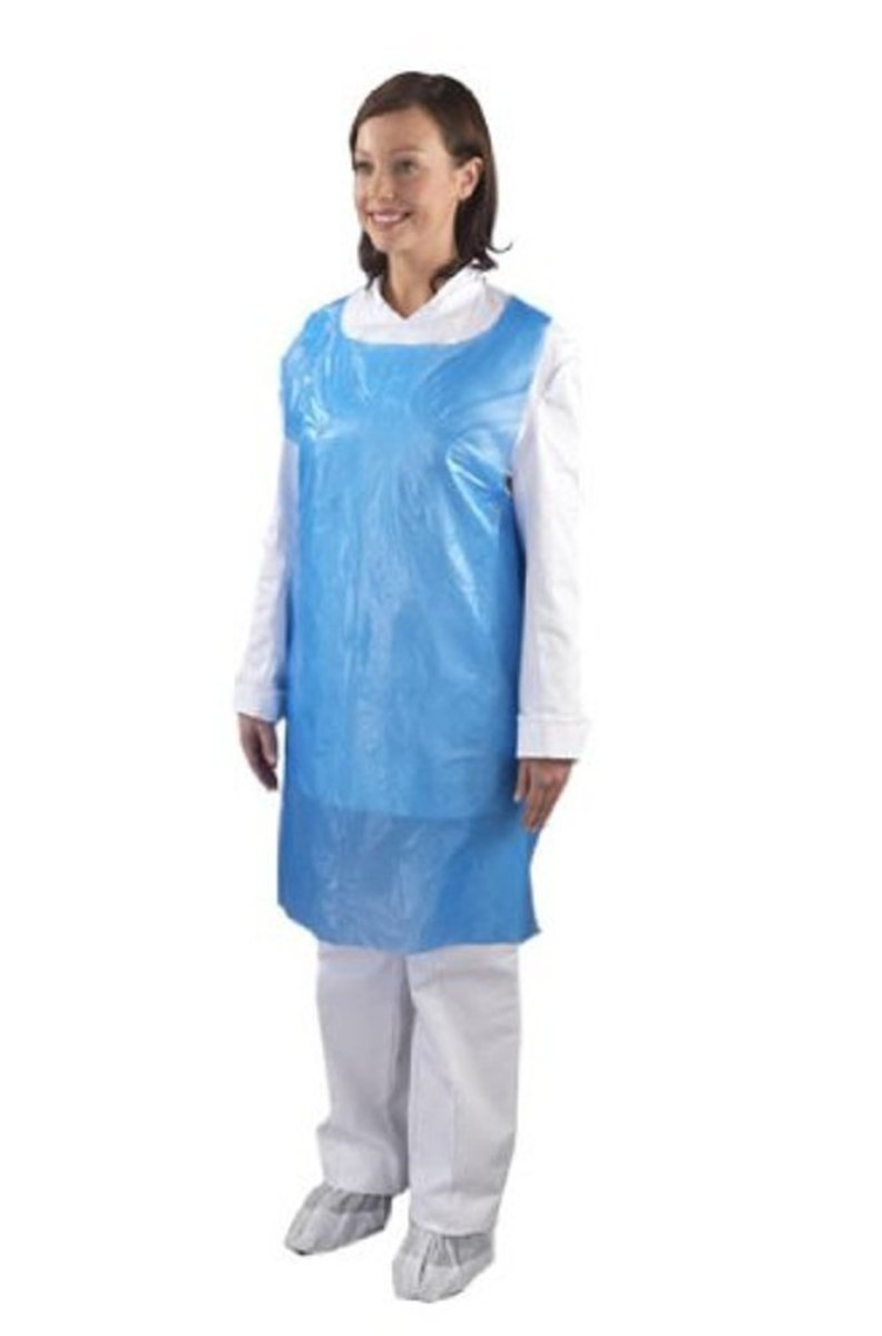 White disposable apron
