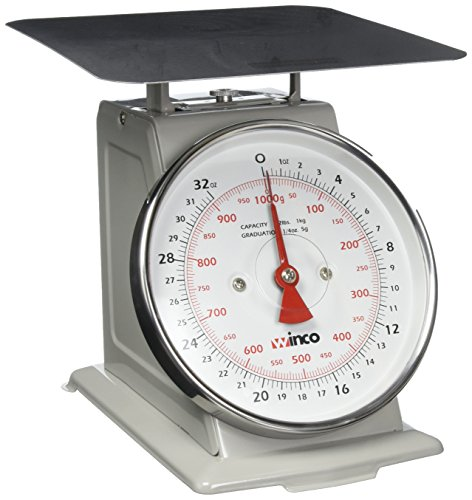 Winco SCAL-62 2-Pound/1kg Scale with 6.5-Inch Dial by Winco