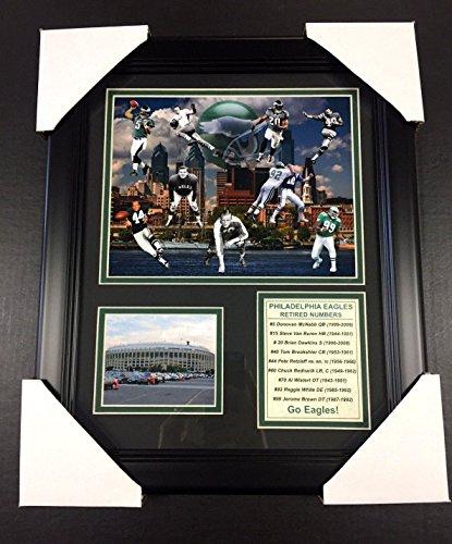 11x14 FRAMED PHILADELPHIA EAGLES RETIRED NUMBERS 8X10 PHOTO REGGIE WHITE