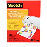 Scotch Thermal Laminating Pouches, 8.97-Inch x 11.45-Inch (Per Pouch), 3-Mil Thickness, 100 Pouches Per Pack, (TP3854-100-C)