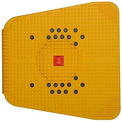 Acupressure Power Mat with Magnets n Pyramids for Pain Relief and Total Health Care Useful for Heel Pain - Knee Pain - Leg Pain - Sciatica - Cramps - Migraine - Tonsils - Depression with Acupressure Health Care Products—Wooden Face Massager Soft/Pointed/K