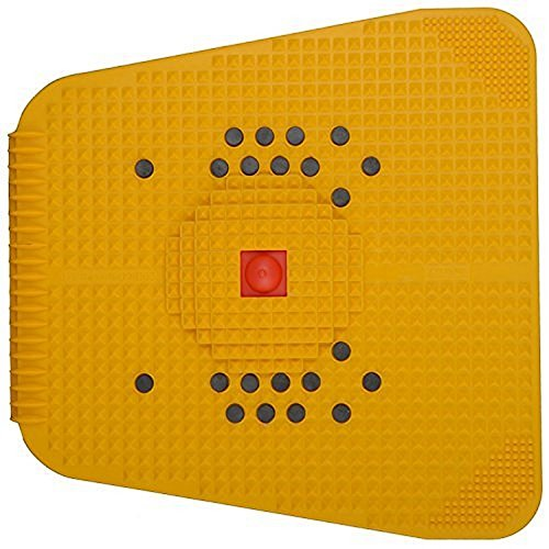 Acupressure Power Mat with Magnets n Pyramids for Pain Relief and Total Health Care Useful for Heel Pain - Knee Pain - Leg Pain - Sciatica - Cramps - Migraine - Tonsils - Depression with Acupressure Health Care Products—Wooden Face Massager Soft/Pointed/KRoll/Jimmy—Sujok Rings/Power Thumb-Ball/Reflexology Chart—FREEBIES By Super INDIA Store (Acupressure Kit)