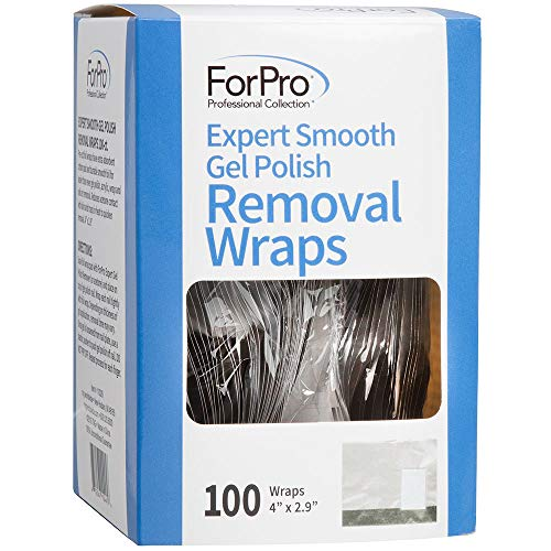 ForPro Expert Smooth Gel Polish Removal Wraps, Pre-Cut with Extra-Absorbent Cotton Pad, Removes Gel Polish, Acrylics, & Nail Art, 4