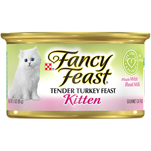- Purina Fancy Feast Tender Turkey Feast Wet Kitten Food - Twenty-Four (24) 3 oz. Cans
