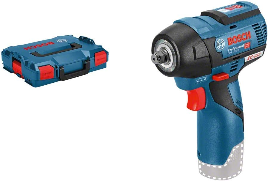 Bosch Professional GDS 12V-115 - Atornillador de impacto a batería (sin batería, 12V, 115 Nm, en L-BOXX)