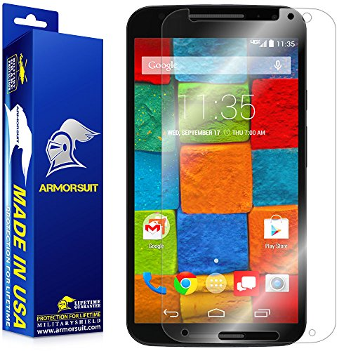 ArmorSuit Motorola Moto X (2nd Gen 2014) Screen Protector Max Coverage MilitaryShield Screen Protector For Motorola Moto X (2nd Gen 2014) - HD Clear Anti-Bubble Film