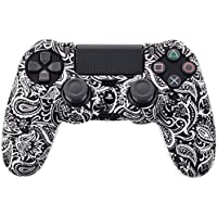 Ronshin Gamepads Camouflage Case Graffiti Studded Dots Silicone Rubber Gel Skin for Sony PS4 Slim/Pro Controller Cover…