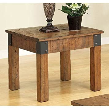 Good Coaster 701457 Distressed Country Wagon Accent End Table