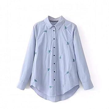 f6d6a735b1 Cnsdy Camisas para Mujeres Camisas Bordadas a Rayas Camisas para Mujeres  Camisas para Mujeres Camisetas de Manga Larga  Amazon.es  Deportes y aire  libre