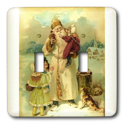 3dRose LLC lsp_6811_2 Victorian Santa Double Toggle Switch -
