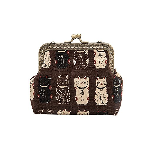 Coin Purse Japanese Style Beckoning Cat For Women and Girl Clutch Pouch Wallet Value