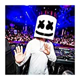 singer mask - Dealer Cheaper Halloween Mask Marshmello DJ Mask Full Rubber Head Cosplay Bar Music Props