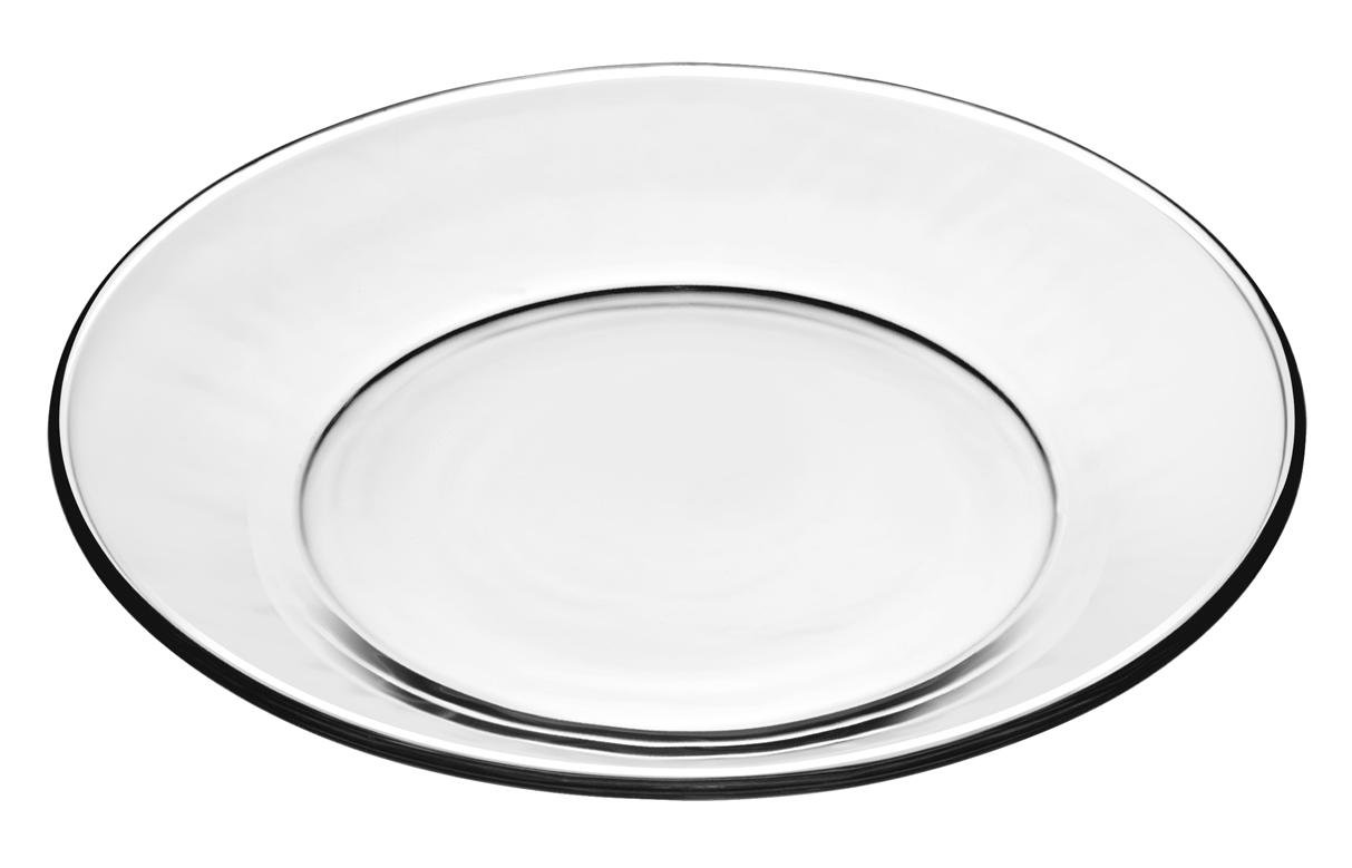 Libbey Moderno 7 1/2 inch Glass Salad/Dessert Plate, Box of 12