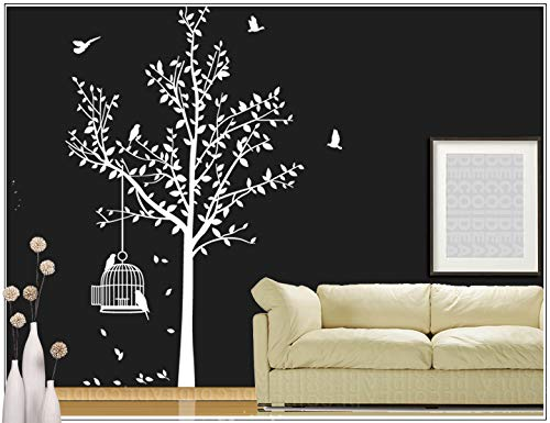 Wandtattoo wandsticker Baum Vogel Wohnzimmer wandaufkleber Vogelbauer Decoidea35bm gartis gartis gartis Rakel(021 Weiss, Grosse5 Baum 210cm (Hoch)) B015ZFHL6A Wandtattoos & Wandbilder 59f46f