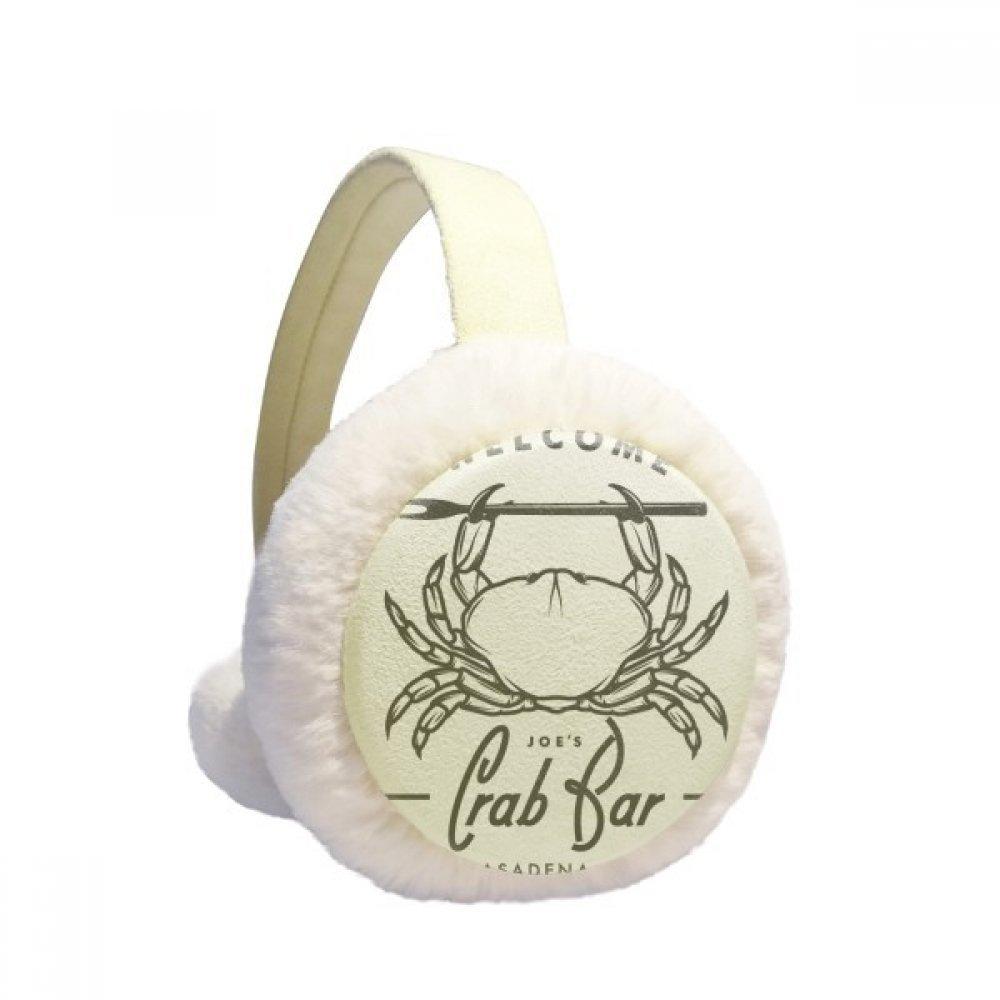 Discover Crab Marine Organism Winter Earmuffs Ear Warmers Faux Fur Foldable Plush Outdoor Gift