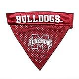 Pet Goods NCAA Mississippi State Bulldogs Collar Bandana, One Size