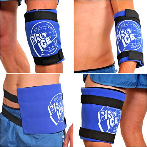 Pro Ice Knee Hip or Back Real Ice Therapy Wrap Wearable Multi-purpose Icing Compression Support PI400