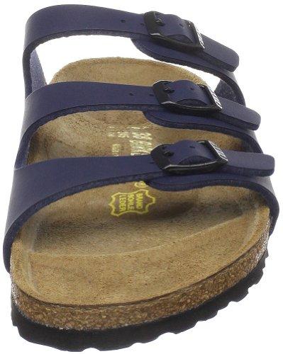 Birkenstock Florida Birkibuc Triple Strap Sandal Blue ItALAl