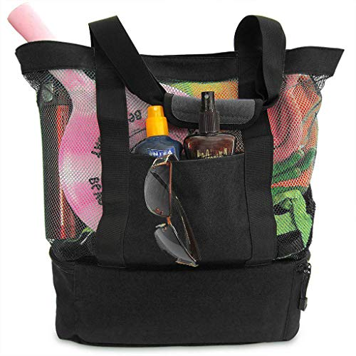 DZTZ Outdoor Waterproof Insulated Cooler Bag Food Picnic Cool Tote Camping Beach Bags (Black) ()