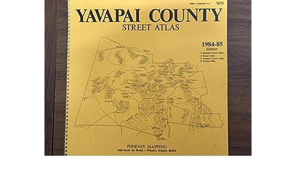 Yavapai County Street & Road Atlas: Phoenix Mapping Service: Amazon on carroll county map, crenshaw county map, arizona map, greene county map, liberty county map, litchfield county map, new castle county map, pima county map, coconino county map, mohave county map, columbia county map, perry county map, boise county map, grant county map, maricopa county map, pinal county map, sheridan county map, hamilton county map, navajo county map, gila county map,