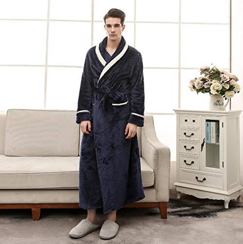 Da Addensare Inverno Flanella Caldo xxxl Vestaglia Coppia Shangxian Kimono Blue Biancheria male pink Accappatoio male Notte Lungo wXFxvRR10