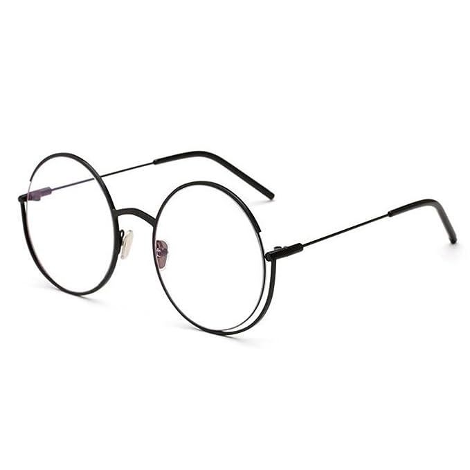 Hzjundasi Moda Retro Redondo Metal Marco Gafas Transparente Lente Anti luz azul  Gafas por Mujer Hombre  Amazon.es  Ropa y accesorios 1e6c6558d16a