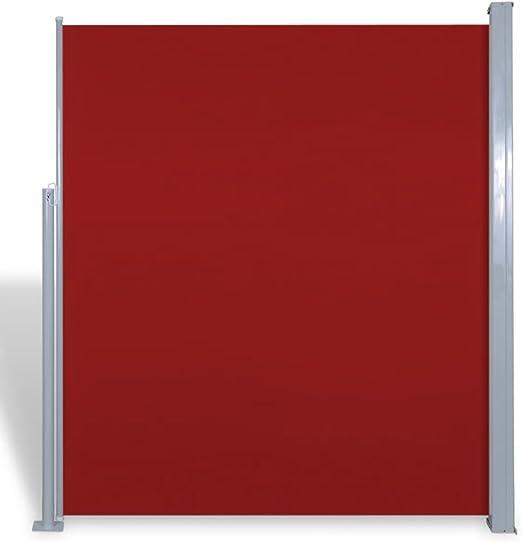 vidaXL Toldo Lateral Retráctil Poste de Acero Rojo 180x300 cm Mampara Terraza: Amazon.es: Jardín