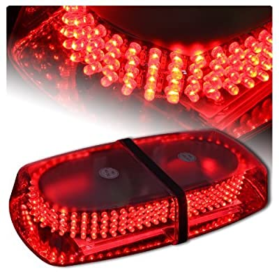 Jackey Awesome 240-LED Snow Plow Safety Strobe Light Warning Emergency 7-Patterns Car Truck Construction Car Vehicle Safety W/ Magnetic Base (Red)
