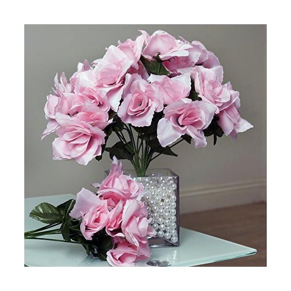 BalsaCircle-84-Silk-Open-Roses-12-Bushes-Artificial-Flowers-Wedding-Party-Centerpieces-Arrangements-Bouquets