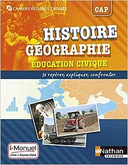 Histoire Geographie Education Civique Cap I Manuel Livre