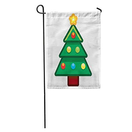 Amazon Com Semtomn Garden Flag Green Emoji Cartoon Christmas Tree
