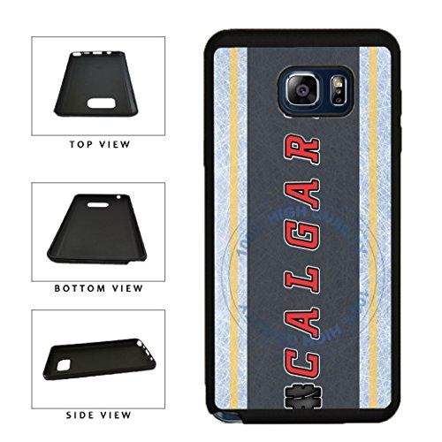 BleuReign(TM) Hockey Team Hashtag Calgary #Calgary TPU RUBBER SILICONE Phone Case Back Cover For Samsung Galaxy (Calgary Flames Hybrid)