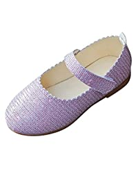 Anxinke Toddlers Little Girls Shiny Casual Ballet Flats
